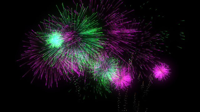 C4D日本語チュートリアル中級者講座 03:Middle Tutorial 03 – How to make the fireworks