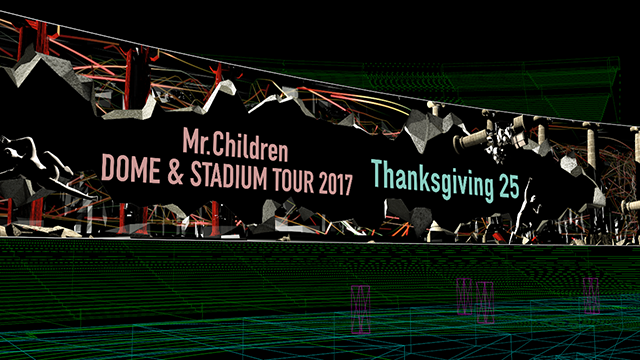 Mr.Children – LED panel visuals for DOME & STADIUM TOUR 2017 Thanksgiving 25